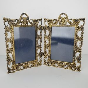 Vintage Picture Frame Gold Brass Beautiful Design